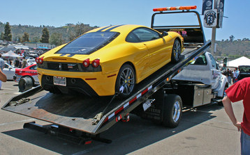 flat bed exotic car transport